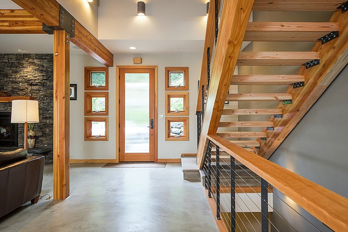 modern wooden house architecture concrete (6)