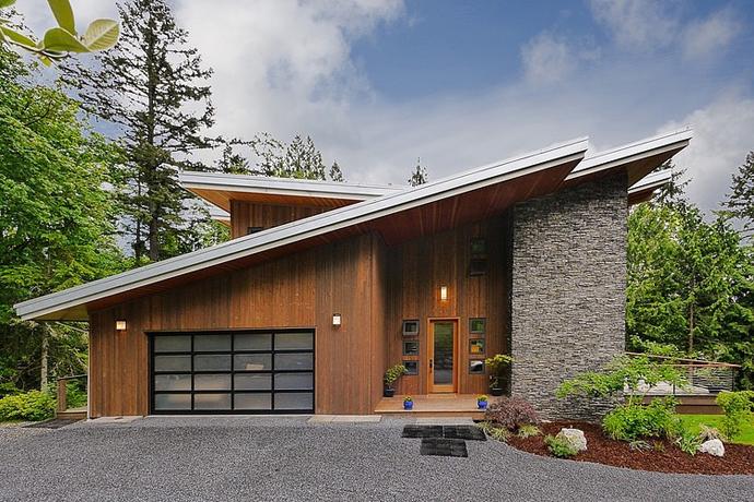 modern wooden house architecture concrete (8)