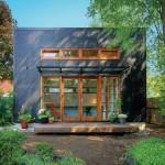 แบบบ้านขนาดเล็กแนวโมเดิร์น ออกแบบรูปทรงสี่เหลี่ยม โล่งสบายน่าอยู่