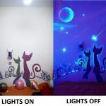 ไอเดียเปลี่ยนห้องนอนธรรมดาๆ ให้กลายเป็นห้องสุดสร้างสรรค์เมื่อปิดไฟ