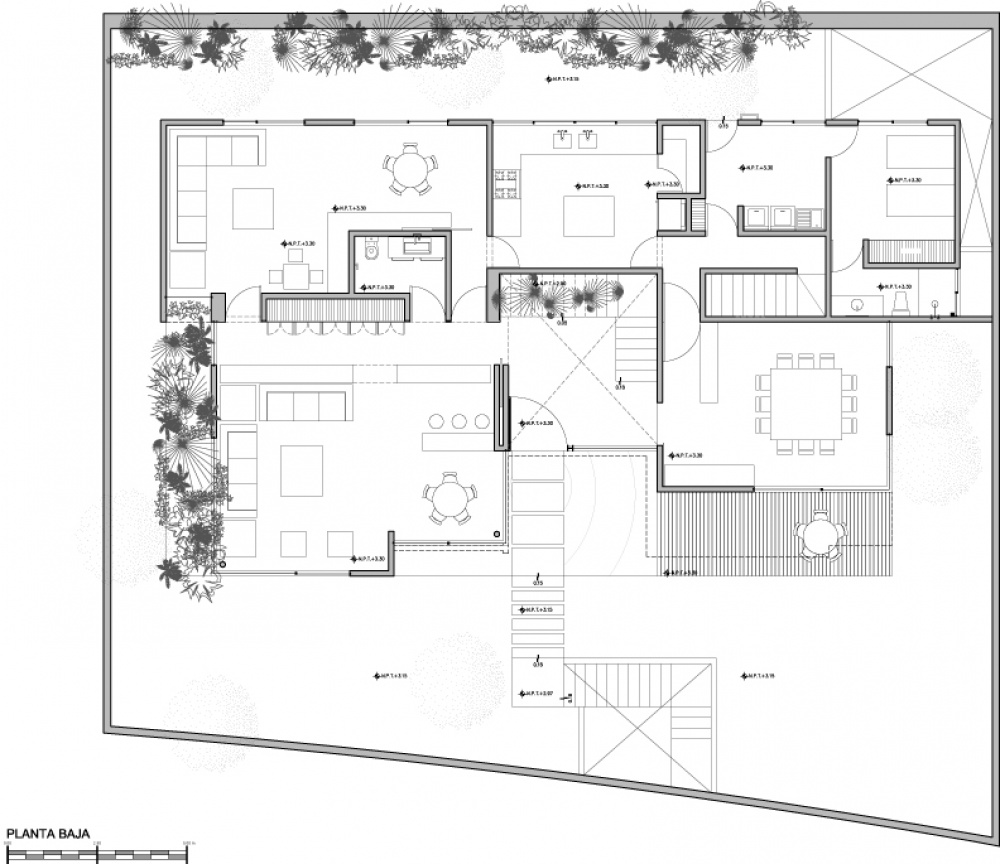 modern house natural surrounding green (4)