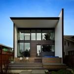 แบบบ้านทาวน์โฮมแนวโมเดิร์น ออกแบบตกแต่งอย่างเรียบหรู และมีพลัง