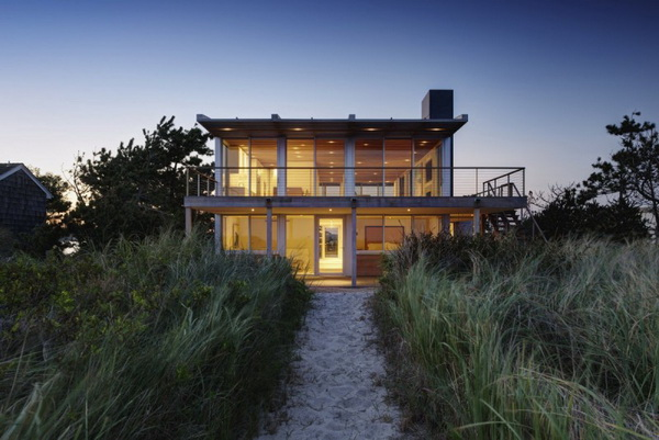 modern vacation house on the beach galss (3)