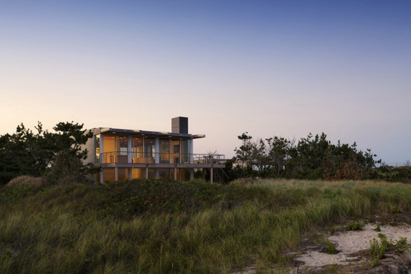 modern vacation house on the beach galss (8)