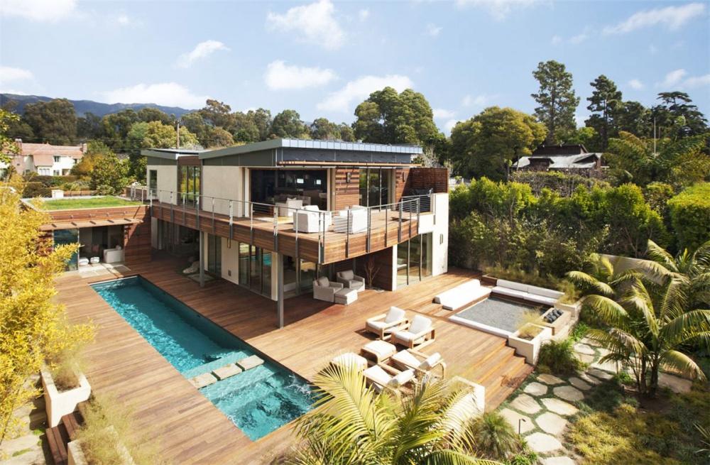 modern vacation house swimming pool enerfy saving (2)