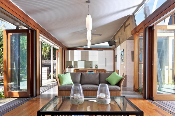 vacation wood glass house for environment (1)