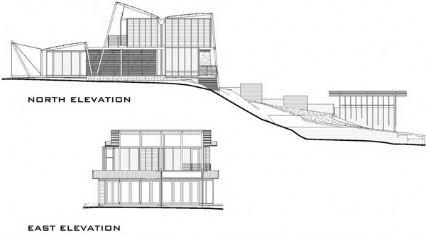 vacation wood glass house for environment (4)