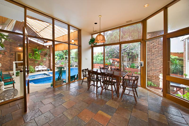 classic contemporary brick modern house swimming pool (5)