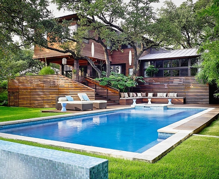 modern contemporary asian american wooden house with large garden swimming pool (9)