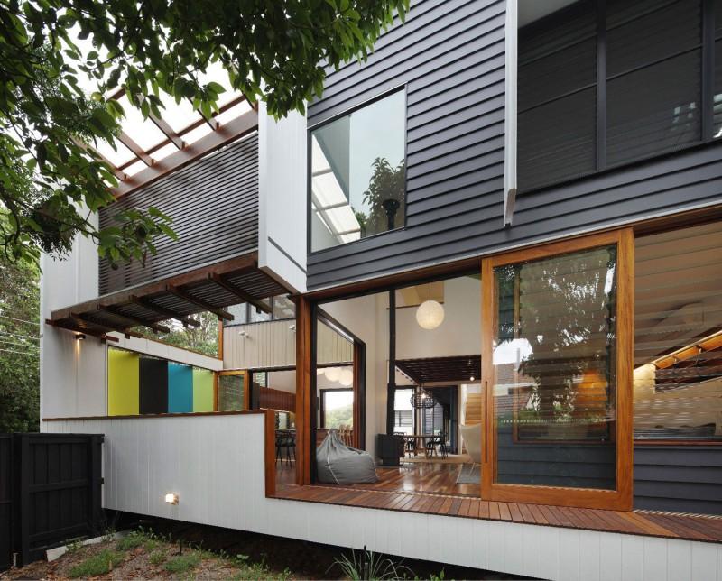 modern house design in australia black white wood (2)