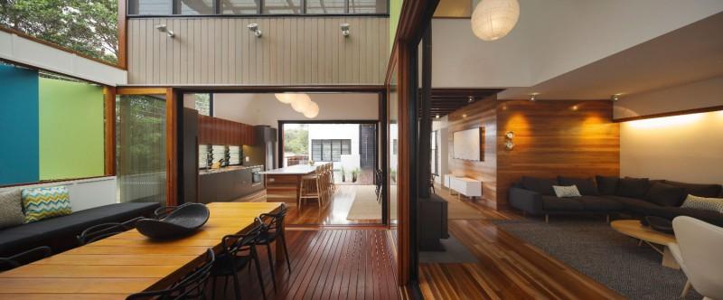 modern house design in australia black white wood (3)