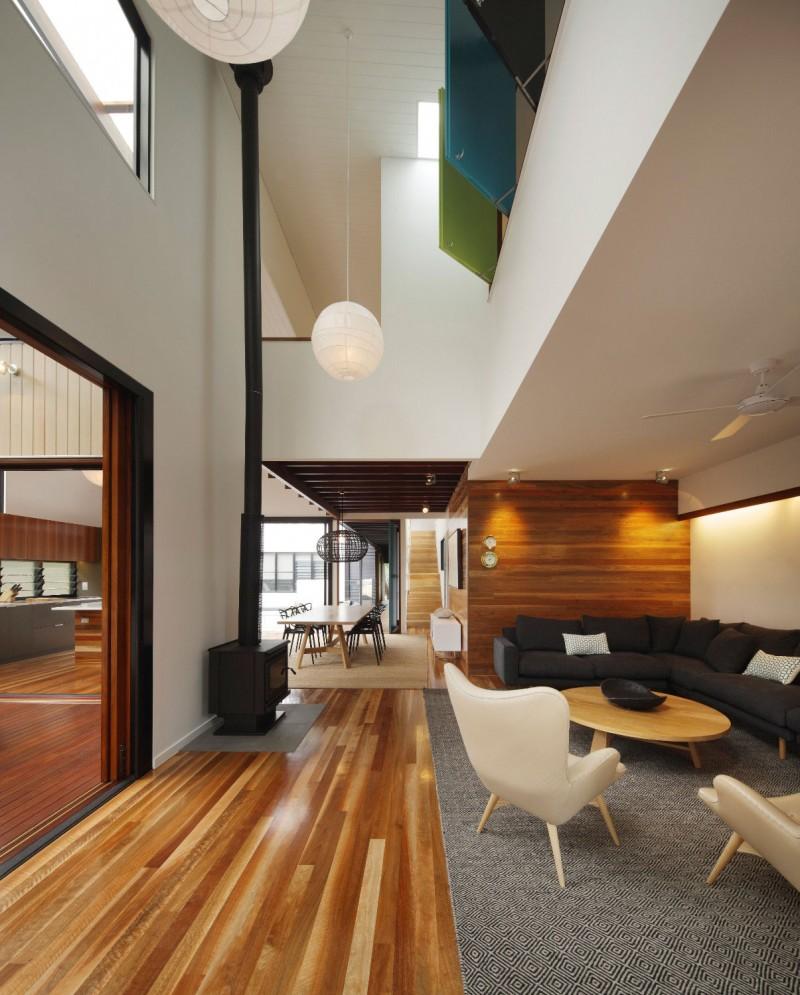 modern house design in australia black white wood (7)