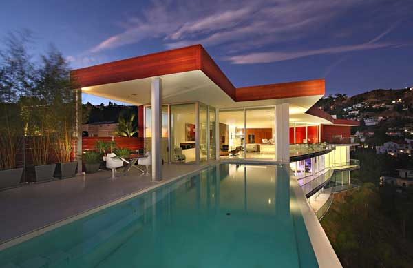 modern house with swimming pool bevery hill (10)