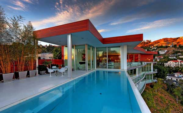 modern house with swimming pool bevery hill (6)