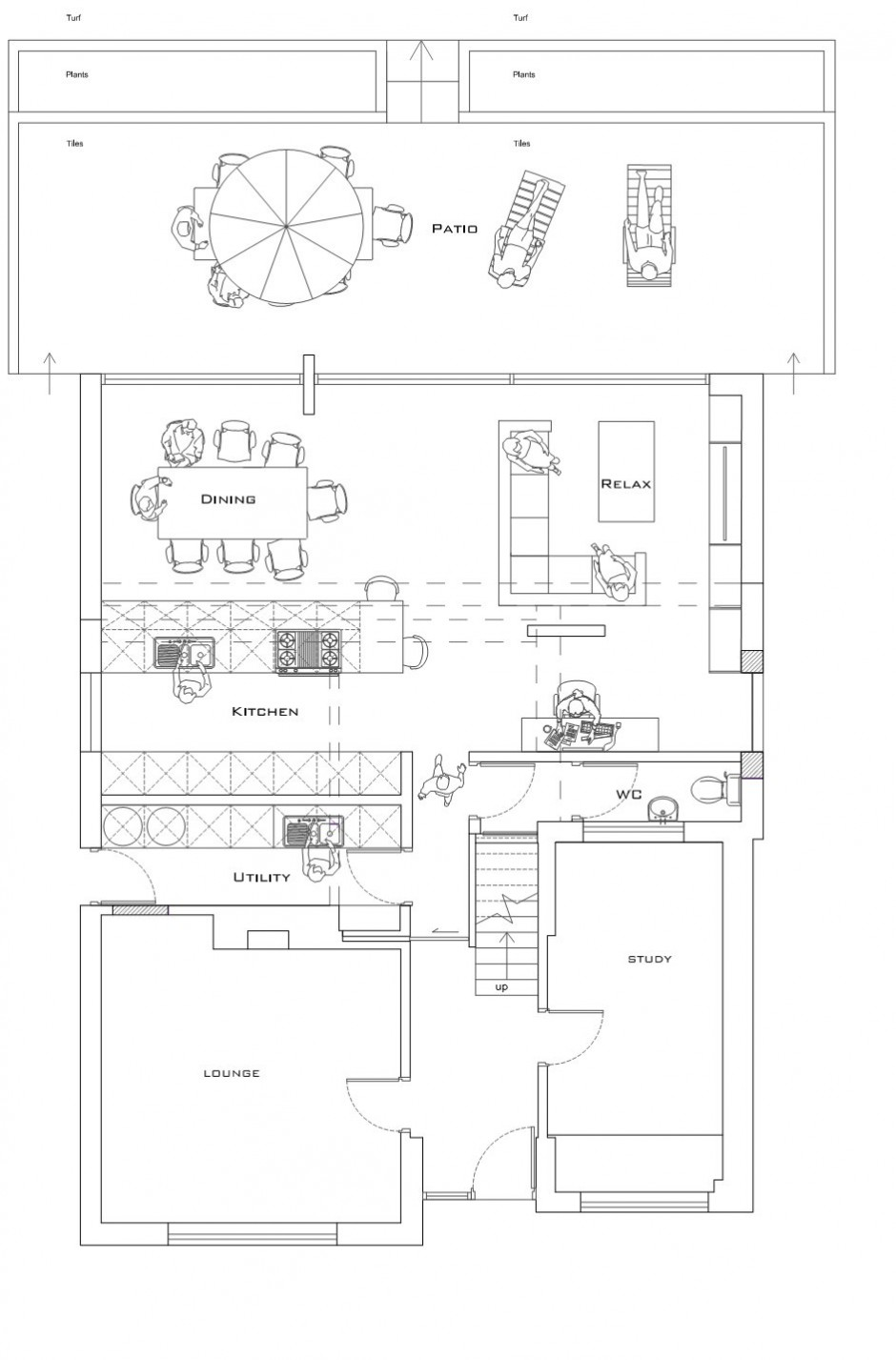 modern monotone house in city with garden (11)
