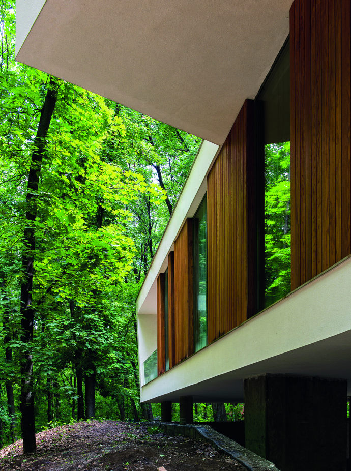 modern retro house in romania forest (5)