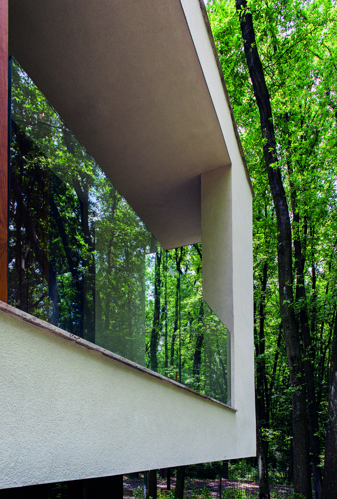 modern retro house in romania forest (6)
