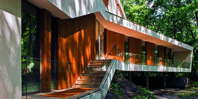 modern retro house in romania forest (7)