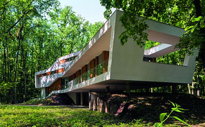 modern retro house in romania forest (9)