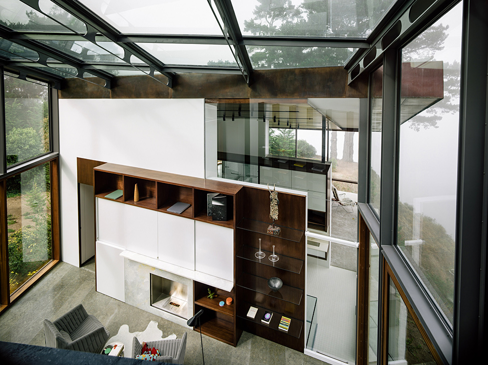 modern wood glass house cliff sea view (14)