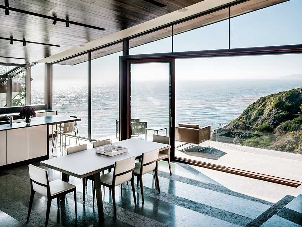 modern wood glass house cliff sea view (15)