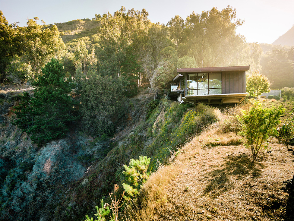 modern wood glass house cliff sea view (16)