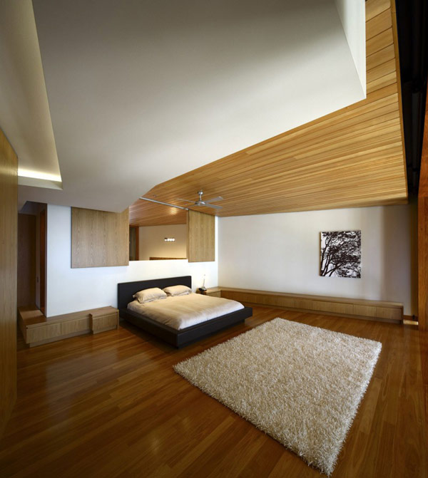 modern wooden house with yard in city (1)