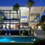 แบบบ้านสไตล์โมเดิร์นริมทะเลสาบ ออกแบบดูโล่งสบายตา แต่งเติมพื้นที่สีเขียว