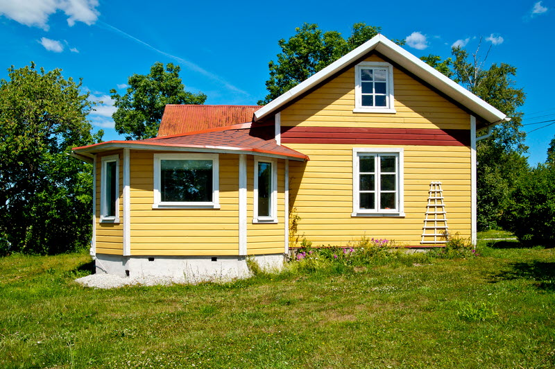 small cottage yellow house in swedish countryside (9)