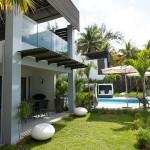 แบบบ้านพักตากอากาศ ออกแบบในแนวโมเดิร์นดูน่าอยู่ บรรยากาศเป็นธรรมชาติ