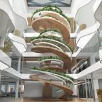 บันไดวนแนวโมเดิร์น ออกแบบเหมือนต้นไม้ขนาดใหญ่ เพื่อชีวิตแห่งโลกอนาคต