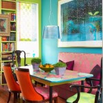 12 ไอเดียตกแต่ง ห้องทานอาหารหลากสีสัน