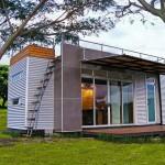 แบบบ้านจากตู้คอนเทนเนอร์ขนาดจิ๋ว แบ่งสรรพื้นที่ใช้สอยอย่างลงตัว