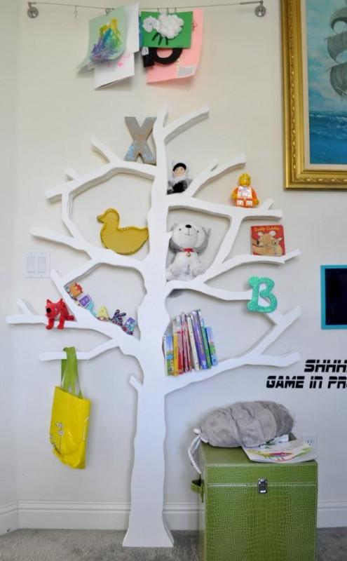 diy-tree-bookshelf-The-Design-Confidential-495x800