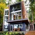 แบบบ้านสามชั้น ออกแบบตกแต่งอย่างโมเดิร์นสวยงามทันสมัย ในบรรยากาศร่มรื่น