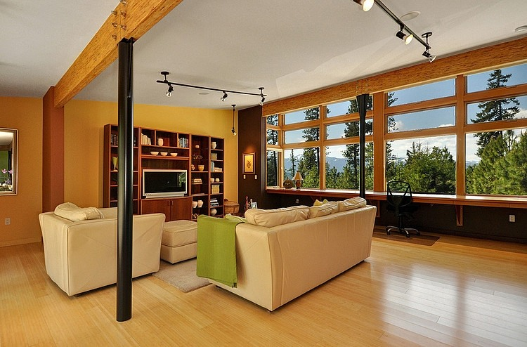 modern green house in beautiful forest  (2)