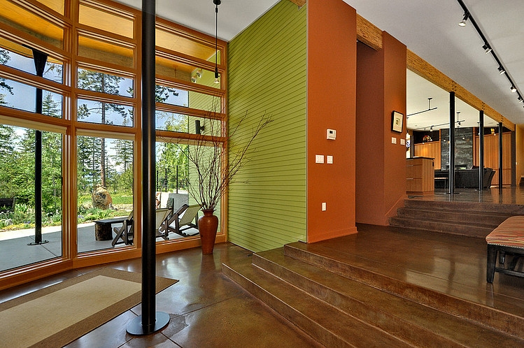 modern green house in beautiful forest  (8)