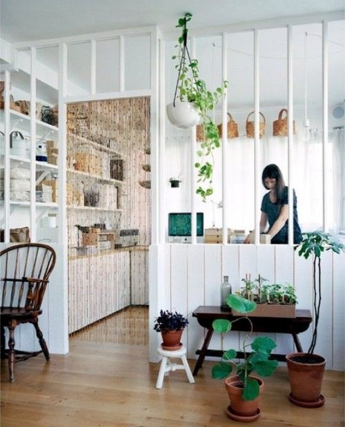 white-partial-room-divider