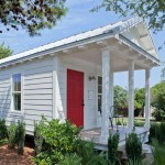 แบบบ้านกระท่อมไม้สีขาว ออกแบบขนาดเล็กกำลังดี ดูน่ารักน่าอยู่