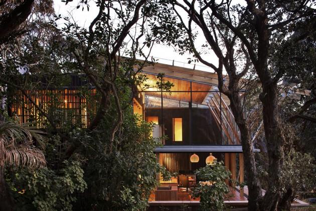 modern contemporary loft wood glass house (11)