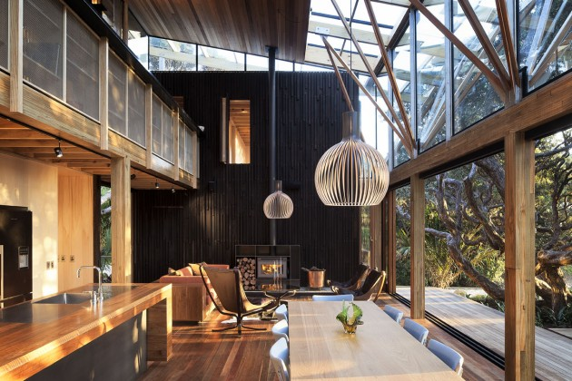 modern contemporary loft wood glass house (13)