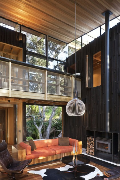modern contemporary loft wood glass house (16)