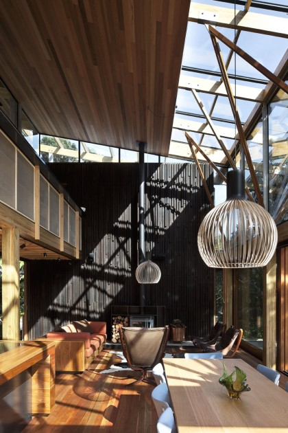 modern contemporary loft wood glass house (5)