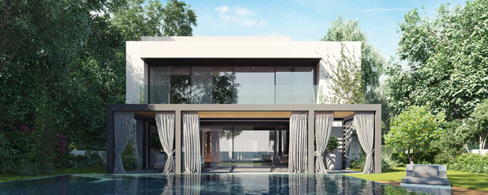 modern lake house in forest (6)