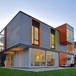 บ้านสองชั้นครึ่งแบบโมเดิร์นร่วมสมัย ภายใต้ชื่อ OS House สำหรับชีวิตอนาคต
