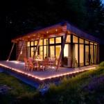 แบบบ้านไม้ชั้นเดียว ออกแบบหลังคาโค้งมีเอกลักษณ์ ตกแต่งแนวโมเดิร์นทันสมัย