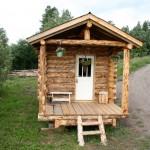 แบบบ้านไม้สไตล์ Log House ออกแบบหลังเล็กๆน่ารัก เหมาะกับการเอาไปสร้างรีสอร์ท