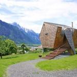แบบบ้านไม้สร้างเลียนแบบยานอวกาศ รูปทรงมีเอกลักษณ์และน่าสนใจมาก