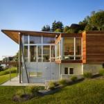 แบบบ้านตากอากาศริมน้ำ ออกแบบมีความทันสมัย ตกแต่งเพื่อความเป็นธรรมชาติ