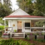 แบบบ้านไม้ชั้นเดียวทรงหลังคาหน้าจั่ว เติมเต็มความสวยงามสไตล์วินเทจ